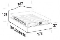 Beds Rosa Double bed with FLOOR bed frame