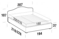 Beds Rosa Maxi double bed with FLOOR bed frame