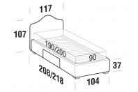 Beds Rosa Single bed with BOX bed frame