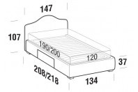 Beds Rosa French bed with BOX bed frame