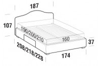 Beds Rosa Double bed with BOX bed frame
