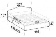Beds Rosa Maxi double bed with BOX bed frame