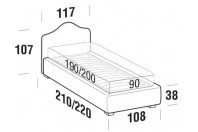 Beds Rosa Single bed with STRONG bed frame