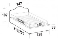 Beds Rosa French bed with STRONG bed frame