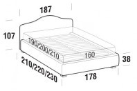 Beds Rosa Double bed with STRONG bed frame