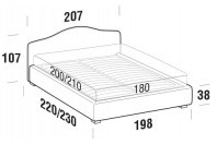 Beds Rosa Maxi double bed with STRONG bed frame