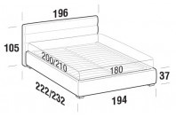 Beds Sir Maxi double bed with FLOOR bed frame