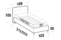 Beds Sir Single bed with FLY bed frame