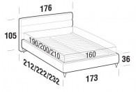 Beds Sir Double bed with FLY bed frame