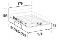 Beds Sir Double bed with BOX bed frame