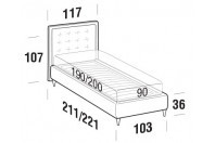 Beds Smith Single bed with FLY bed frame