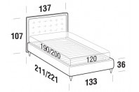 Beds Smith French bed with FLY bed frame