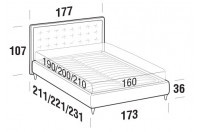 Beds Smith Double bed with FLY bed frame
