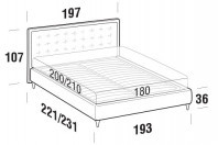 Beds Smith Maxi double bed with FLY bed frame