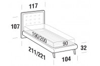 Beds Smith Single bed with UP bed frame