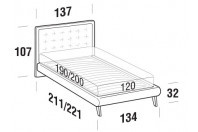Beds Smith French bed with UP bed frame