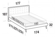 Beds Smith Double bed with UP bed frame