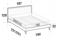 Beds Smith Maxi double bed with UP bed frame