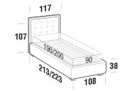 Beds Smith Single bed with STRONG bed frame