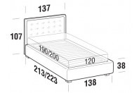 Beds Smith French bed with STRONG bed frame