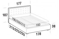 Beds Smith Double bed with STRONG bed frame