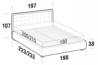 Beds Smith Maxi double bed with STRONG bed frame