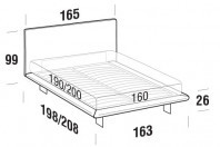 Beds Snap Double bed with SLIM bed frame