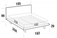 Beds Snap Maxi double bed with SLIM bed frame