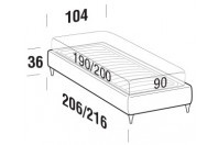 Beds Sommier Single bed with FLY bed frame