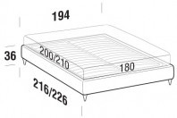 Beds Sommier Maxi double bed with FLY bed frame