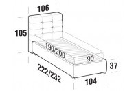 Beds Tender Single bed with FLOOR bed frame