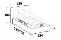 Beds Tender French bed with FLOOR bed frame