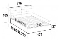 Beds Tender Double bed with FLOOR bed frame