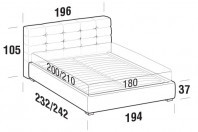 Beds Tender Maxi double bed with FLOOR bed frame