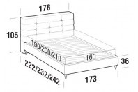 Beds Tender Double bed with FLY bed frame