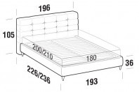 Beds Tender Maxi double bed with FLY bed frame