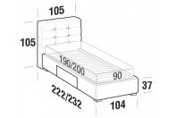 Beds Tender Single bed with BOX bed frame
