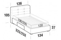 Beds Tender French bed with BOX bed frame