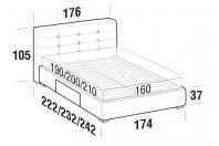 Beds Tender Double bed with BOX bed frame