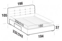 Beds Tender Maxi double bed with BOX bed frame