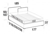 Beds Together Double bed with SLANT bed frame