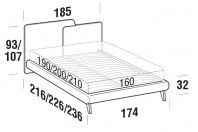 Beds Together Double bed with UP bed frame