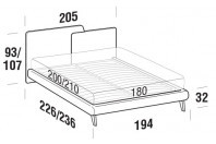 Beds Together Maxi double bed with UP bed frame