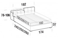 Beds Tower Double bed with FLOOR bed frame