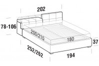 Beds Tower Maxi double bed with FLOOR bed frame