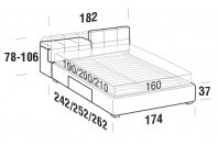Beds Tower Double bed with BOX bed frame
