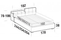 Beds Tower Double bed with STRONG bed frame