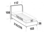 Beds Windsor Single bed with FLY bed frame