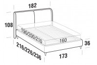 Beds Windsor Double bed with FLY bed frame