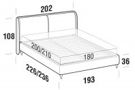 Beds Windsor Maxi double bed with FLY bed frame